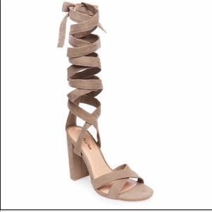 Wild Pair Cosmos lace up Sandals Heels